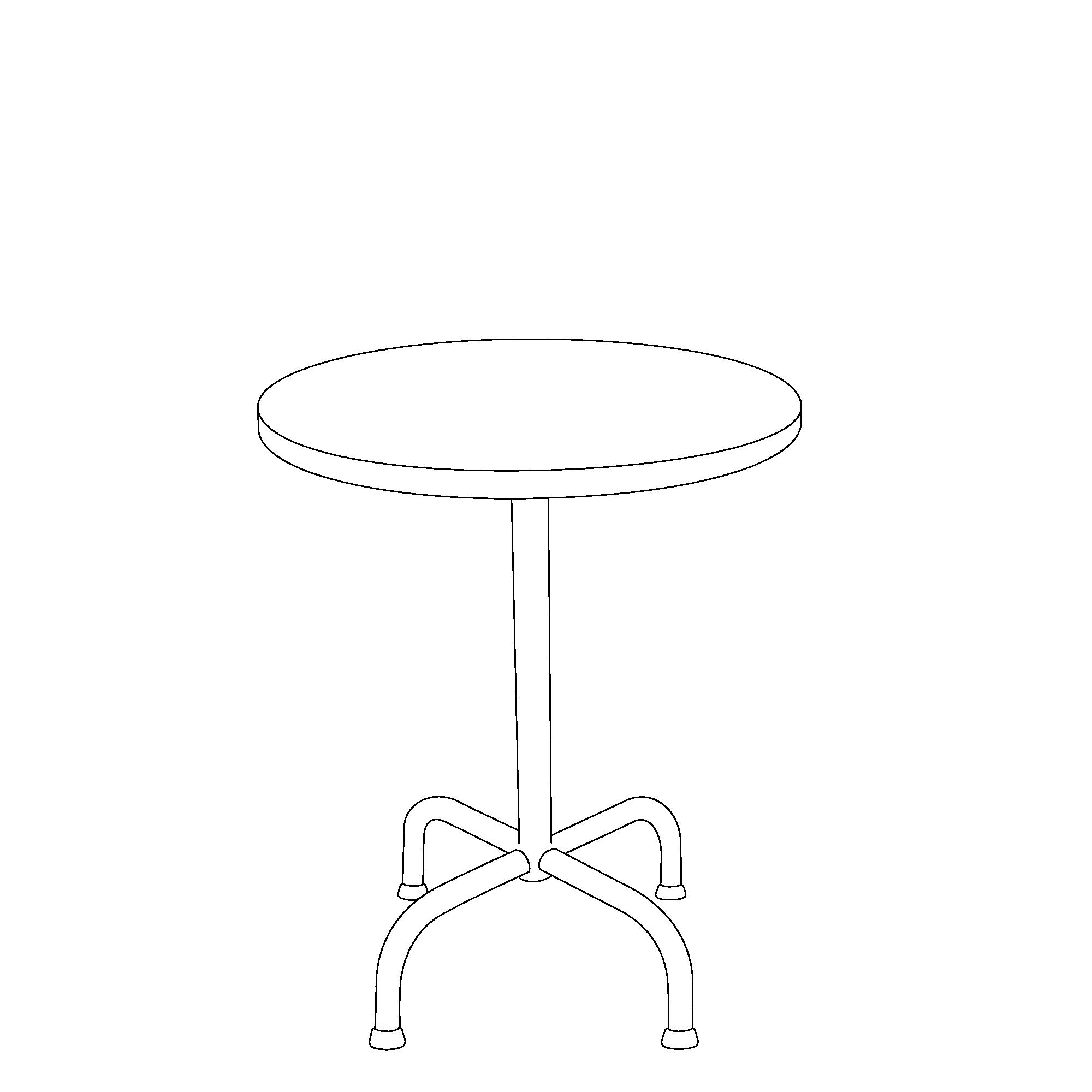 Nostalgy Bistro rund (mit 4 kleinen Füssen)